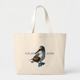 Islas de las Islas Galápagos con base azules del b Bolsa Tela Grande