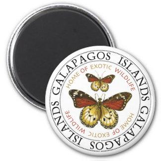 Islas de las Islas Galápagos de las mariposas Imán Redondo 5 Cm