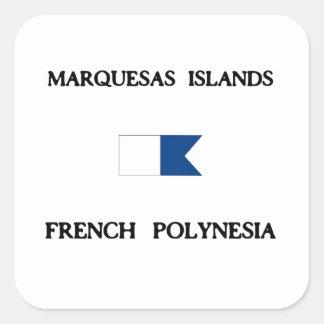 Islas de Marquesas Polinesia francesa Pegatina Cuadrada