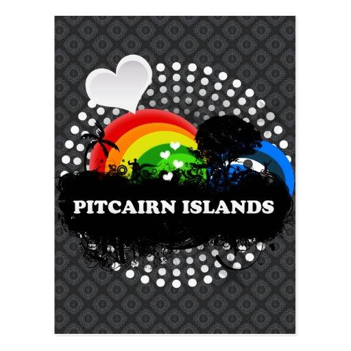 Islas de Pitcairn con sabor a fruta lindas Postales