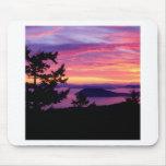 Islas de San Juan de la puesta del sol en Puget So Alfombrilla De Ratones