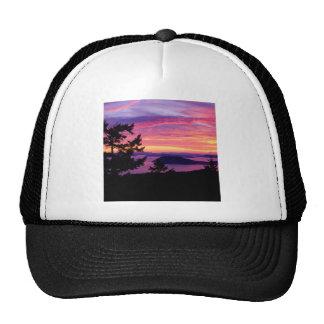 Islas de San Juan de la puesta del sol en Puget So Gorra
