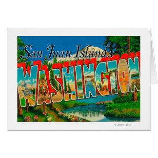 Islas de San Juan, letra de WashingtonLarge Tarjeta De Felicitación
