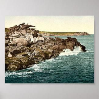 Islas de Scilly, roca del púlpito de St Mary, Corn Poster