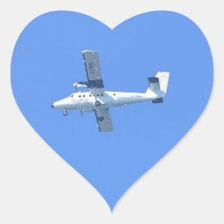 Islas de Scilly Skybus Pegatina En Forma De Corazón