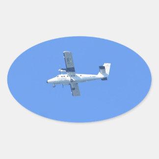 Islas de Scilly Skybus Pegatina Ovalada