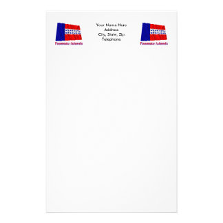 Islas de Tuamotu que agitan la bandera con nombre Papelería Personalizada