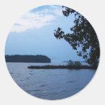 Islas del bajo del lago Erie Pegatinas Redondas