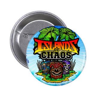 Islas del botón del caos pin redondo de 2 pulgadas