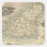 Islas del Canal Calcomania Cuadradas Personalizada