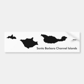 Islas del Canal de Santa Barbara Pegatina De Parachoque