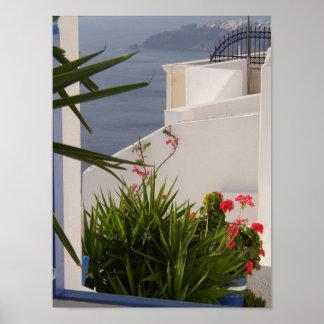 Islas del Griego de Santorini Póster