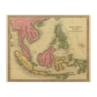 Islas del indio cuadro de madera