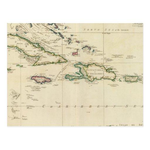 Islas del oeste 2 de la India Postales