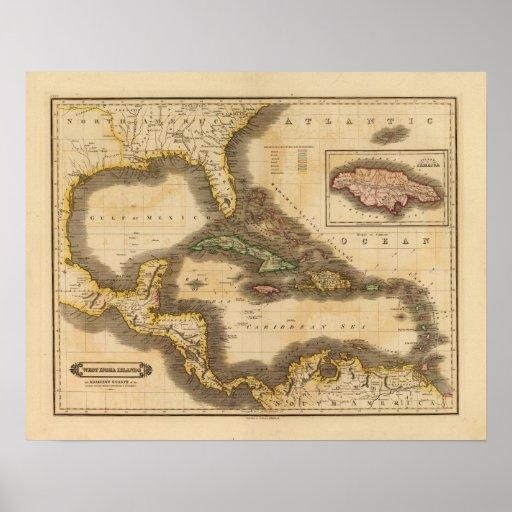 Islas del oeste de la India Póster