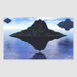 Islas del vuelo rectangular pegatina