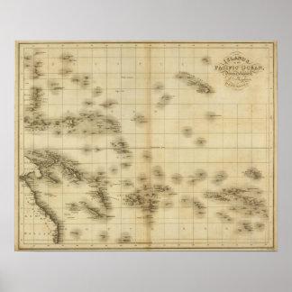 Islas en el Océano Pacífico Póster