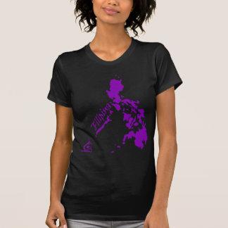 Islas filipinas de la filipina púrpuras camiseta