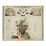 Islas geológicas, paleontológicas de Británicos de Posters