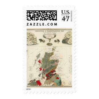 Islas geológicas, paleontológicas de Británicos Timbres Postales