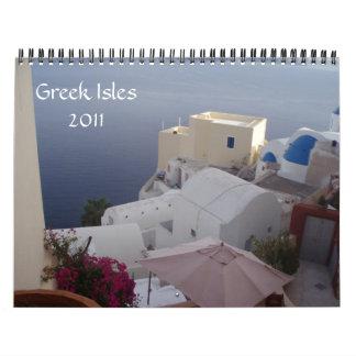 Islas griegas 2011 calendario de pared