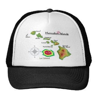 Islas hawaianas con la isla raramente vista de los gorra