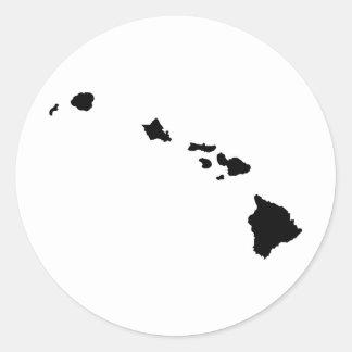 Islas hawaianas pegatina redonda