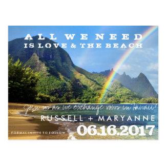 Islas hawaianas que casan reserva las postales de