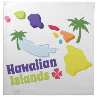 Islas hawaianas servilletas imprimidas