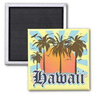 Islas hawaianas Sourvenir de Hawaii Imán Cuadrado