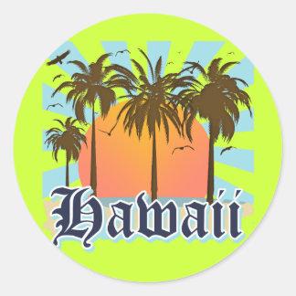 Islas hawaianas Sourvenir de Hawaii Pegatina Redonda