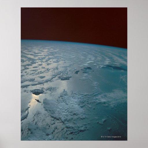 Islas hawaianas tomadas del transbordador espacial impresiones