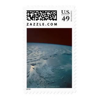 Islas hawaianas tomadas del transbordador espacial sello