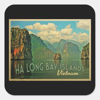 Islas largas Vietnam de la bahía de la ha Pegatina Cuadrada