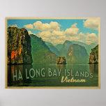 Islas largas Vietnam de la bahía de la ha Posters