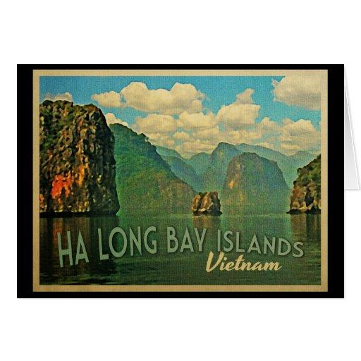 Islas largas Vietnam de la bahía de la ha Tarjeta De Felicitación