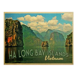 Islas largas Vietnam de la bahía de la ha Postal
