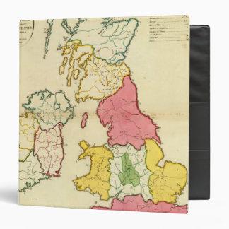 """Islas llanas de Británicos del mapa Carpeta 1 1/2"""""""