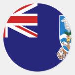 Islas Malvinas, Reino Unido Etiquetas Redondas
