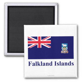 Islas Malvinas señalan por medio de una bandera co Iman De Nevera