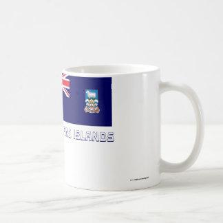 Islas Malvinas señalan por medio de una bandera co Taza De Café