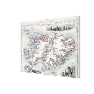 Islas Malvinas y Patagonia, de una serie de W Impresiones En Lona