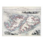 Islas Malvinas y Patagonia, de una serie de W Tarjetas Postales