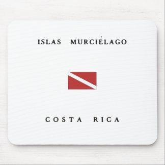 Islas Murcielago Costa Rica Scuba Dive Flag Mouse Pad