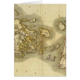 Islas occidentales medias tarjeton