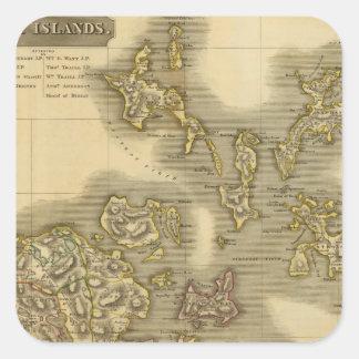 Islas Orcadas Pegatina Cuadradas Personalizadas