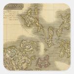 Islas Orcadas Pegatina Cuadrada