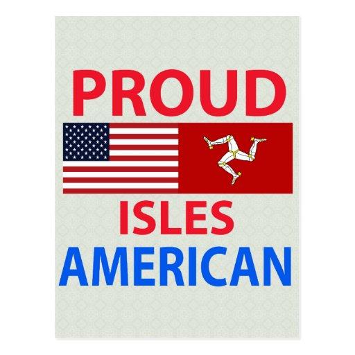 Islas orgullosas americanas tarjetas postales