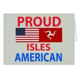 Islas orgullosas americanas tarjetón