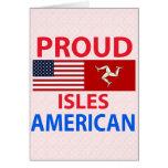 Islas orgullosas americanas tarjeton